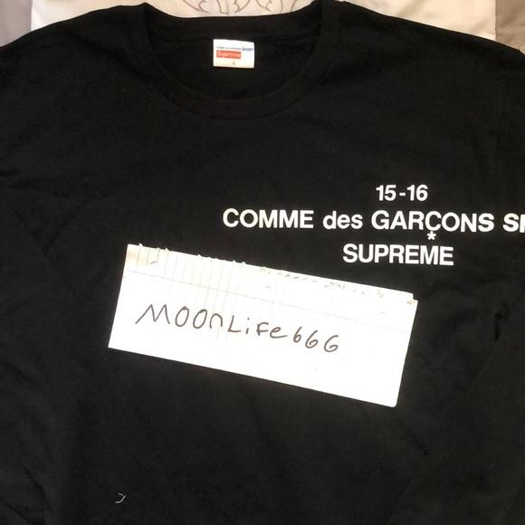 60c3f20b5a89 Supreme Shirts | X Cdg Long Sleeve 2015 Size L | Poshmark